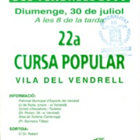 22a Cursa Popular Vila del Vendrell : Festa Major del Vendrell 2000