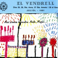 [Programa de la Festa Major del Vendrell, 1981]