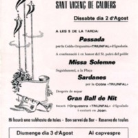 Festa Major de Sant Vicenç de Calders 1975