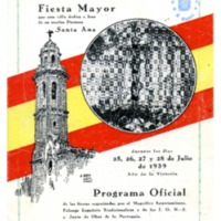 [Programa de la Festa Major del Vendrell, 1939]