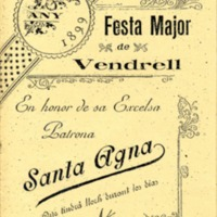 [Programa de la Festa Major del Vendrell, 1899]