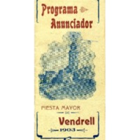 [Programa de la Festa Major del Vendrell, 1903]