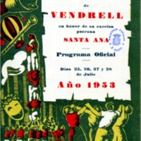[Programa de la Festa Major del Vendrell, 1953]