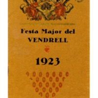 [Programa de la Festa Major del Vendrell, 1923]