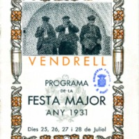 [Programa de la Festa Major del Vendrell, 1931]