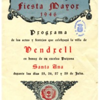 [Programa de la Festa Major del Vendrell, 1946]