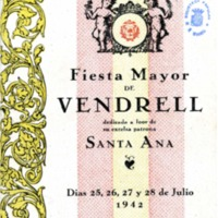 [Progama de la Festa Major del Vendrell, 1942]