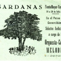 Fiesta Mayor de Vendrell del 25 a 28 de julio de 1958 : sardanas