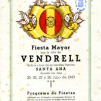 [Programa de la Festa Major del Vendrell, 1940]