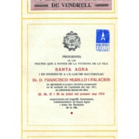 [Programa de la Festa Major del Vendrell, 1913]