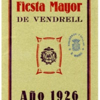 [Programa de la Festa Major del Vendrell, 1926]