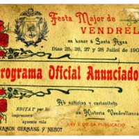 [Programa de la Festa Major del Vendrell, 1905]