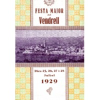 [Programa de la Festa Major del Vendrell, 1929]