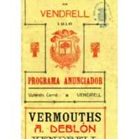 [Programa de la Festa Major del Vendrell, 1916]