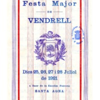 [Programa de la Festa Major del Vendrell, 1921]