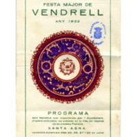 [Programa de la Festa Major del Vendrell, 1922]