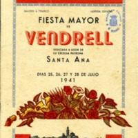 [Programa de la Festa Major del Vendrell, 1941]