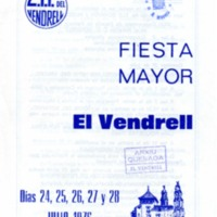 [Programa de la Festa Major del Vendrell, 1976]