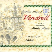 [Programa de la Festa Major del Vendrell, 1944]