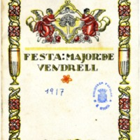 [Programa de la Festa Major del Vendrell, 1917]