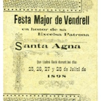 [Programa de la Festa Major del Vendrell, 1898]